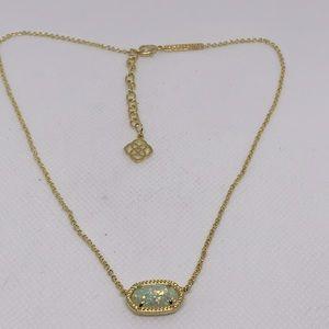 Kendra Scott Elisa Gold Necklace Iridescent Druzy